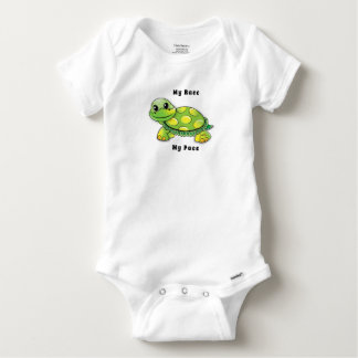 Turtle's Pace Baby Onesie