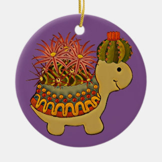 turtle's party dress ceramic ornament