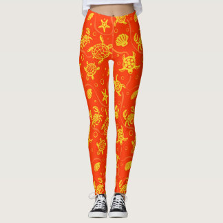 Turtles Pattern Leggings