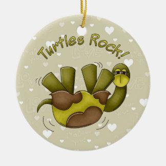 Turtles Rock ornament