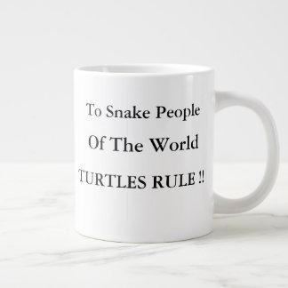 Turtles Rule Over Snakes! Large Coffee Mug