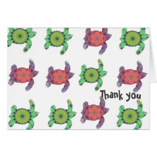 Turtles Thank you note Card