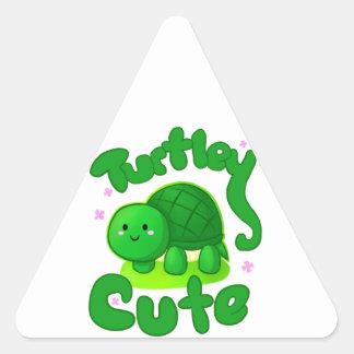 Turtley Cute Triangle Sticker