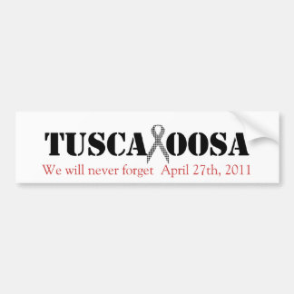 Tuscaloosa with Houndstooth Support Ribbon Bumper Sticker