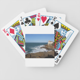 Tuscan coast in winter with Boccale castle Bicycle Playing Cards