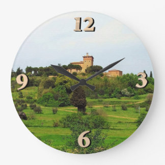 Tuscan Countryside Large Clock