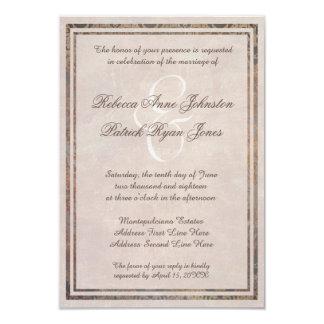 Tuscan Damask Elegant Italian Style Wedding Invite