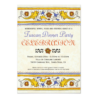 Tuscan Dinner Party Invitation