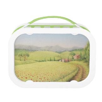Tuscan Farmhouse, Italy in Pastel Yubo Lunchbox