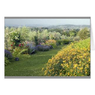 Tuscan flower garden card