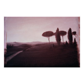Tuscan Landscape 1992 Poster