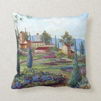 Tuscan landscape pillow