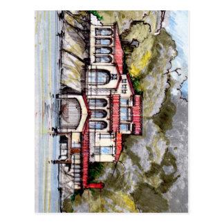 Tuscan Style Villa on the Waterfront Postcard