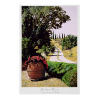 Tuscan Summer Road Poster
