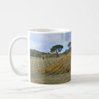 Tuscan vineyard in autumn coffee mug