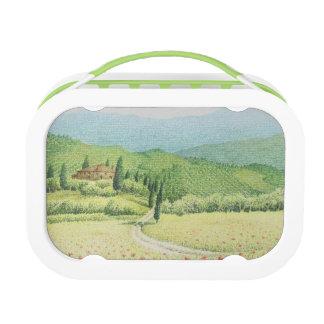 Tuscan Vineyard, Italy in Pastel Yubo Lunchbox
