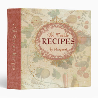 Tuscan vintage fruit vegetable recipe binder
