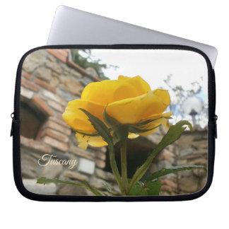 Tuscan yelllow rose. laptop sleeve