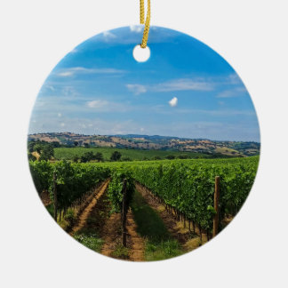 Tuscany 6 round ceramic ornament
