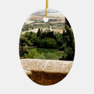 Tuscany 9 ceramic oval ornament