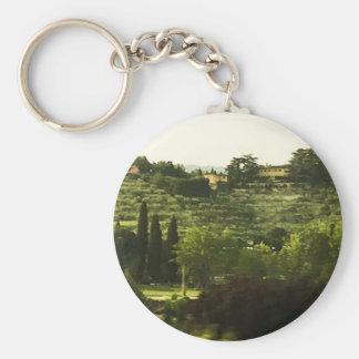 Tuscany Beauty Photo Print Keychain