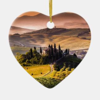 Tuscany Ceramic Heart Ornament