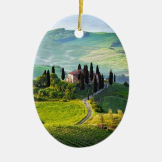 Tuscany Ceramic Oval Ornament