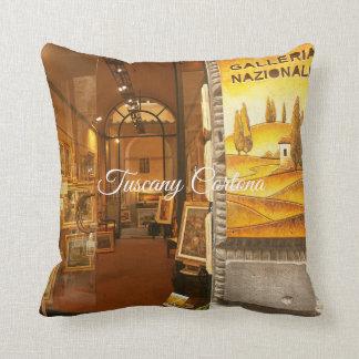 Tuscany Cortona.Art Gallery. Throw Pillow