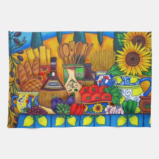 Tuscany Delights American Mojo Kitchen Towels