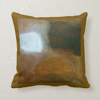 Tuscany Earth Tones Abstract Landscape Painting Throw Pillow