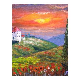 Tuscany Fire Sky Letterhead