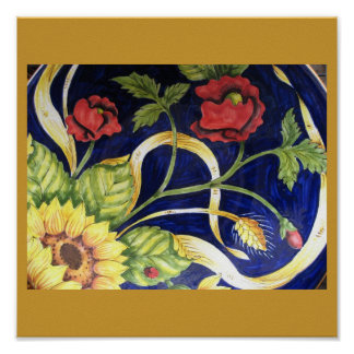 Tuscany Flowers Poster