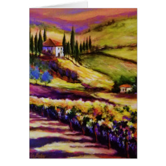 Tuscany Glow by Artist T.Fowler-Bailey Greetg Card