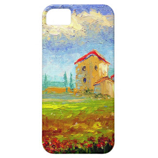 Tuscany HIlside with Poppies iPhone 5 Cases