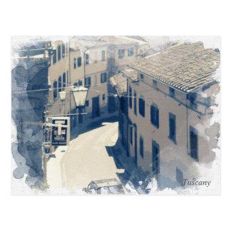 Tuscany. Italy. Cortona Postcard