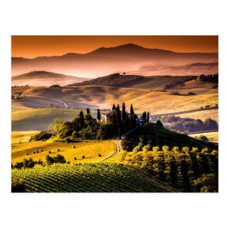 Tuscany, Italy landscape photograph Postcard