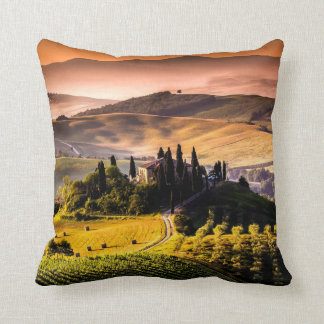Tuscany, Italy landscape photograph Throw Pillow