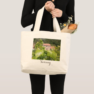 Tuscany, Italy. Rustic house. Large Tote Bag