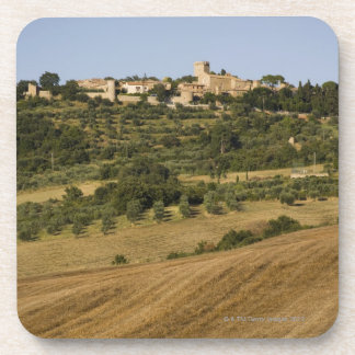 Tuscany landscape around of Monticchiello south Drink Coaster