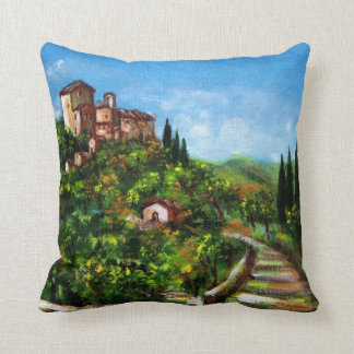 TUSCANY LANDSCAPE THROW PILLOW