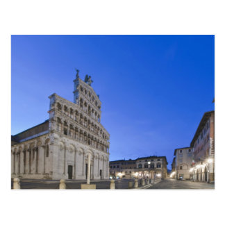 Tuscany, Lucca, Piazza San Michele at Dawn Postcard
