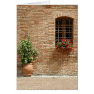 Tuscany pot plants card