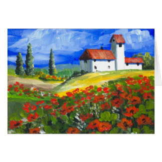 Tuscany Red Poppies Card