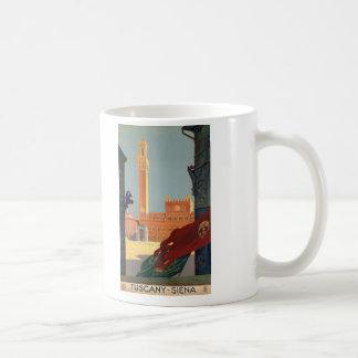 Tuscany Siena Italy Vintage Italian Travel Poster Coffee Mug