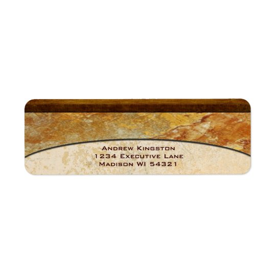 Tuscany Stone Marble Architectural Custom Return Address Label