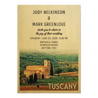 Tuscany Wedding Invitation Vintage Italy