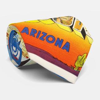 Tuscon Arizona AZ Old Vintage Travel Souvenir Tie