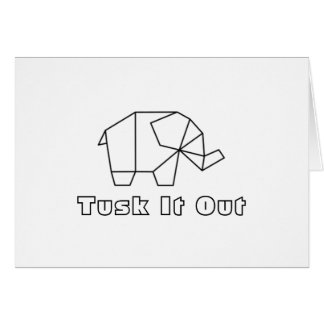 'Tusk' It Out Get Well Card