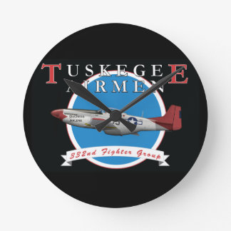 Tuskegee Airman P-51D Red Tail Clock