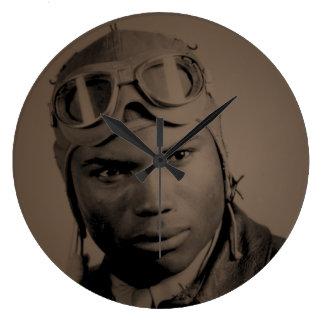 Tuskegee Airman Wall Clock